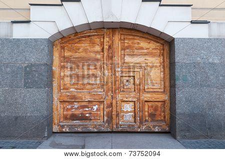 Unpainted Textured Wooden Gate