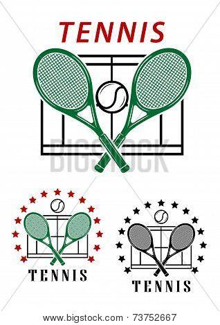 Big tennis emblems or badges