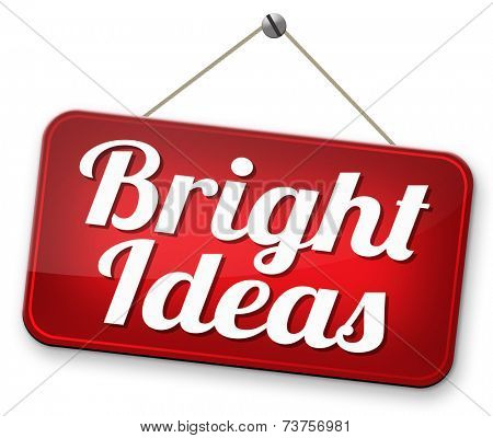 brilliant idea bright ideas eureka new original creations