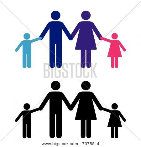 Vector Family Holding Hands