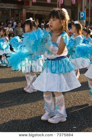 Japanese young children Festival Dancer