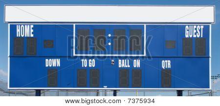 American Football Scoreboard In Blue
