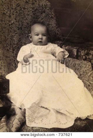Foto de bebé antiguo