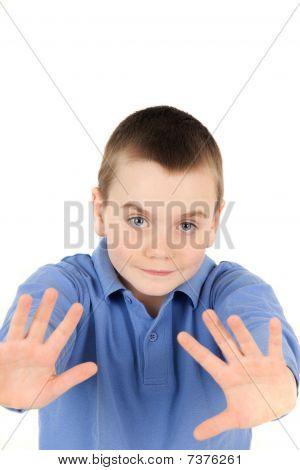 Young Boy Waving