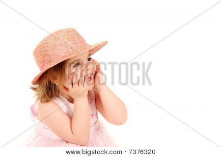 Menina em rosa