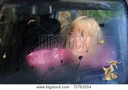 Sad Woman In The Car