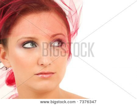 Teenage Girl Looking Up