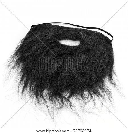 a false beard on a white background