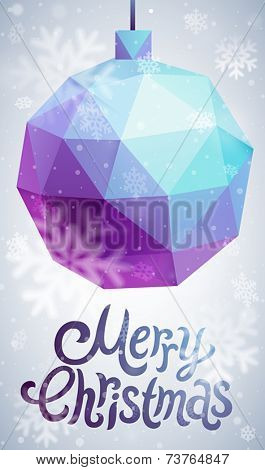Christmas flyer - geometric stile.
