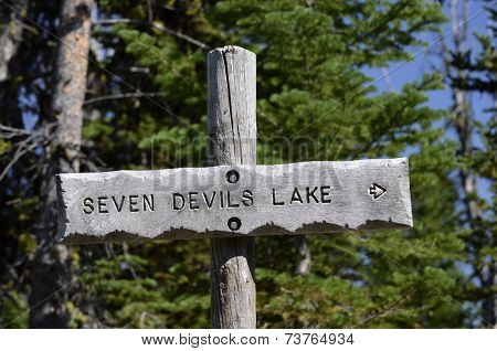 Seven Devils Lake Sign