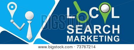 Local Search Marketing Blue Squares
