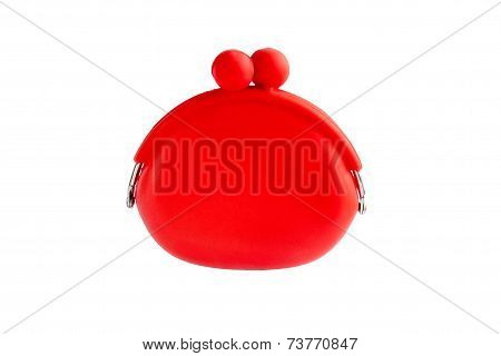 Red Silicone Coin Purse