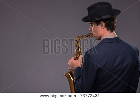 Handsome young jazz man