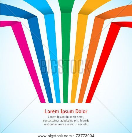 Rainbow stripes on light background.
