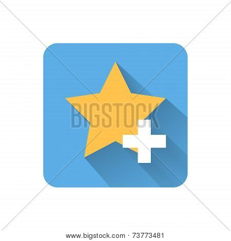 Flat Favorites Icon. Vector Illustration