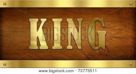 Vintage Door Plate, King