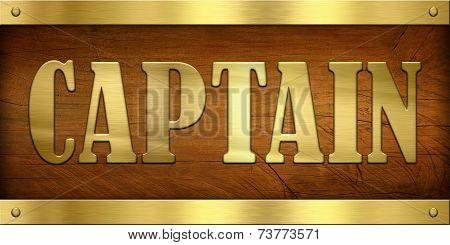 Vintage Door Plate, Captain