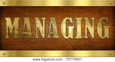 Vintage Door Plate, Managing