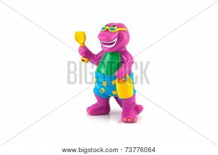 Barney The Purple Dinosaur figure toy model.