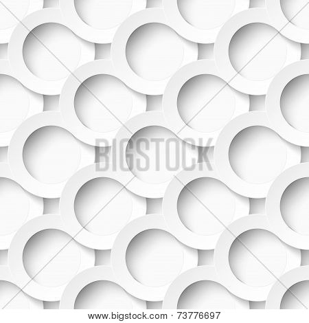 White circles with drop shadows