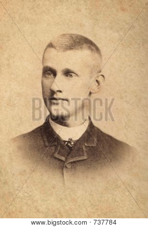 1889 Antique Photo of a Man