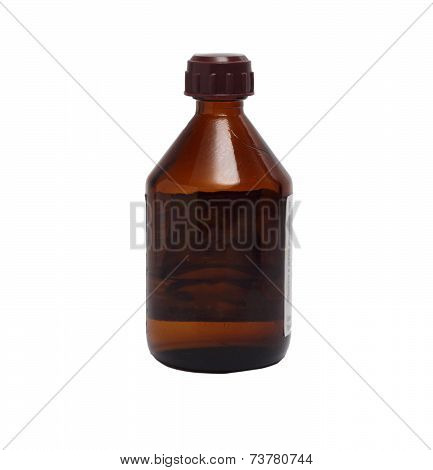Compact Glass Bottle For Medicine