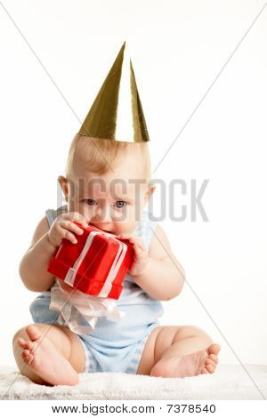 Baby With Giftbox