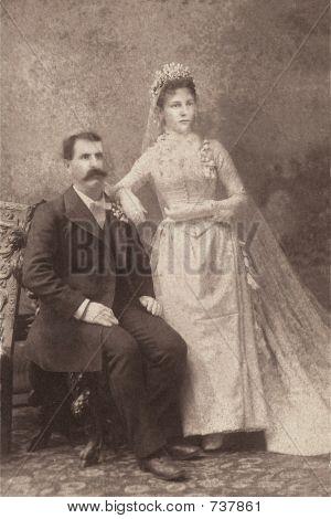 vintage 1883 wedding