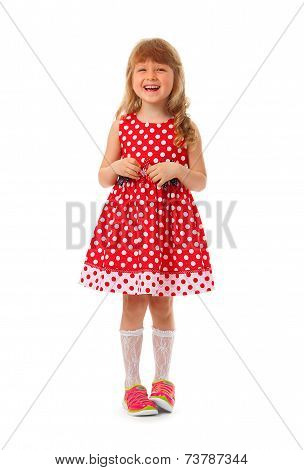 Little Girl in red clothes