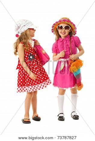 Two Girls Are Dressed For Summer