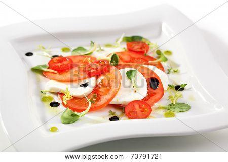 Caprese Salad -Tomatoes and Mozzarella Cheese