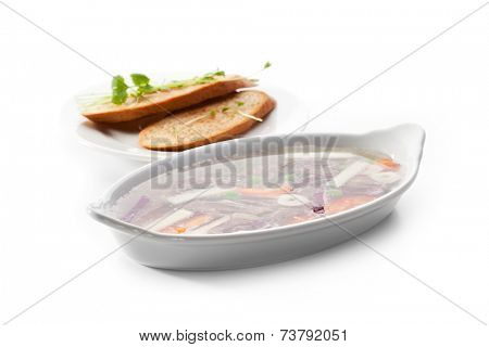 Meat Aspic Bowl with Bread