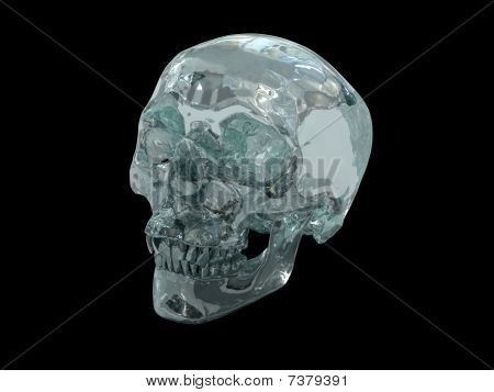 3D model of a human Crystal Skull