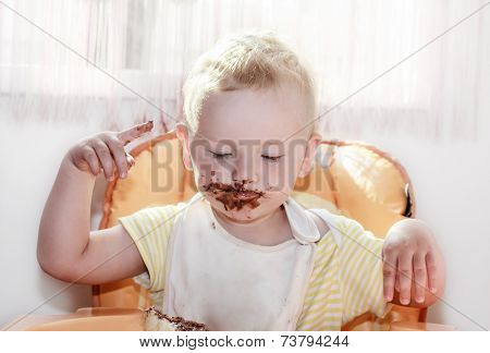 Chocolate On Face
