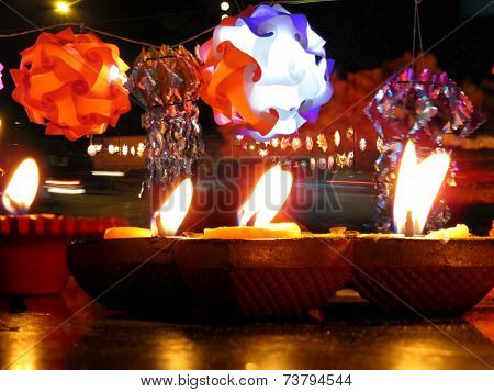 Diwali Lamps And Lanterns
