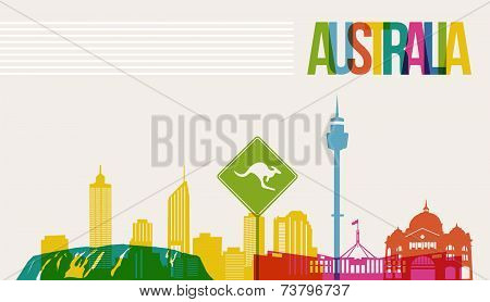 Travel Australia Destination Landmarks Skyline Background