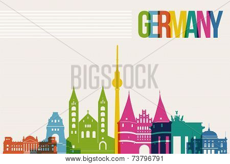 Travel Germany Destination Landmarks Skyline Background