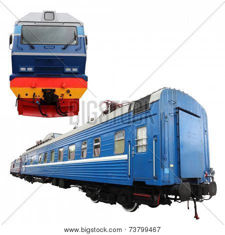 The image of a passenger train car