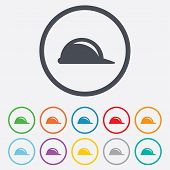 picture of hard_hat  - Hard hat sign icon - JPG