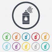 foto of disinfection  - Bug disinfection sign icon - JPG