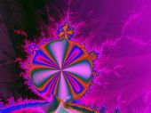 stock photo of mandelbrot  - Abstract rendering of the iconic Mandelbrot set in purples - JPG