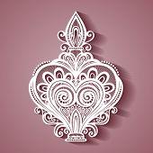 picture of perfume  - Vector Ornate Decorative Perfume - JPG