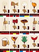 foto of norway lobster  - Set of cards with different countries kitchens - JPG