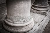 foto of legion  - Columns in the courtyard of the Palace of the Legion of Honor - JPG