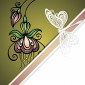 picture of dragonflies  - Vector Colored Floral Background - JPG