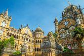 picture of british bombay  - Chatrapati Shivaji Terminus earlier known as Victoria Terminus in Mumbai - JPG