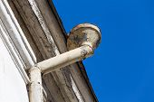 picture of gutter  - Rain gutters on old home - JPG
