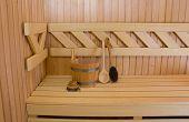 foto of sauna  - Wood accessory in the Sauna  - JPG