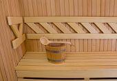 image of sauna  - Wood accessory in the Sauna  - JPG