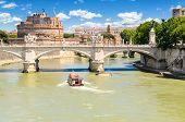 foto of emanuele  - view of Ponte Vittorio Emanuele II and Castel Sant - JPG